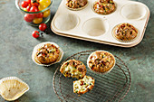 Low-carb vegetable omelette muffins
