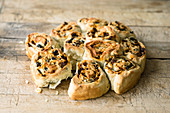 Feta cheese and olive bread