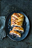 Mascarpone and blueberry bread