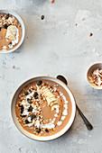 Pumpkin smoothie bowls