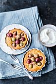 Gooseberry cakes made from potato dough