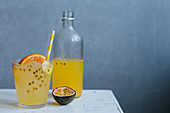 Orange and maracuja switchel with ginger