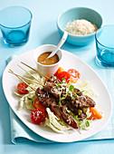 Beef Satay with gado gado salad