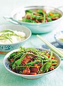 Asian Lamb and Vegie Stir-fry