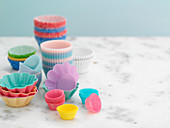 Various cupcake molds