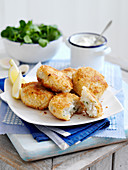 Fish Cakes with yogurt