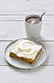 Swedish carrot cake with cream cheese