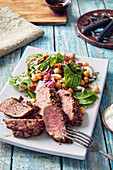 Noisette of lamb with a chickpea salad