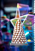 A profiterole pyramid (Christmas)