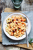 Risotto with pumpkin and cranberries