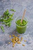 Pesto with rocket and pumpkin seeds