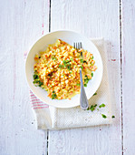 Vegetable risotto alle Milanese (low carb)