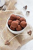 Chocolate tiramisu truffles
