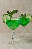 Mint and cucumber schnapps