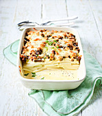 Kohlrabi gratin with smoked tofu