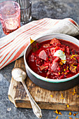 Beetroot and beef stew