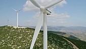 Wind turbines, Greece
