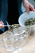 Brewing hops tea (for the menopause)