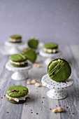 Green macadamia and lime whoopie pies