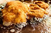 Wiener Schnitzel wird in Fett gebraten