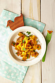 Pumpkin gnocchi with parsley