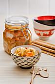 Kimchi (pickled Chinese cabbage, Korea)