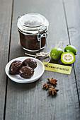 Pickled black walnuts
