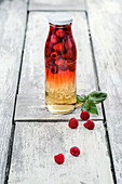 Raspberry-flavored vinegar