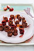 Erdbeerleder