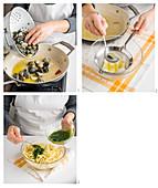 Trofi (italienische Pasta) mit Basilikumpesto und Venusmuscheln zubereiten