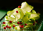 Cucumber And Pomegranate Seeds