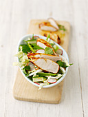 Vegetable salad with miso chicken