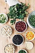 Ingredients for Five Bean Salad