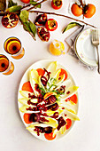 Endive Salad with Persimmon Chevre Vinaigrette