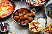 Traditional jewish and middle eastern food