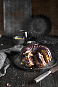 Banana and chocolate bundt cake