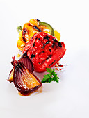 Chargrilled Pepper and Onion