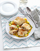 Stuffed chicken breast parcels (Italy)