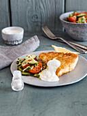 Backfisch mit Zitronenjoghurt (Low Carb)