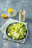 Lettuce with yoghurt dressing