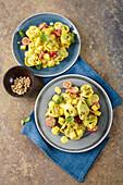 'Eurasia' tortellini salad with mango and mayo