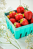 Strawberries in a paper dish