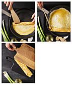 Japanisches Omelett zubereiten