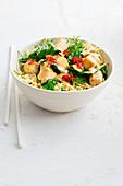 Crispy tofu and kale stir-fry