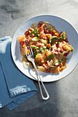 Ceviche vom Ochsenmaulsalat mit Papaya und Ingwer