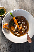 Lamb stew with apples and carrots