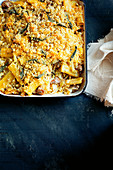 Italian pasta bake with pork sausage