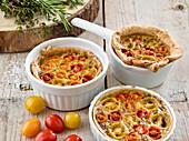 Bärlauch-Tomaten-Tartes