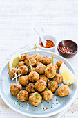Pepper and chilli fish balls