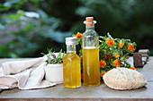 Aromatisiertes Distelöl als Badezusatz und Kosmetiköl